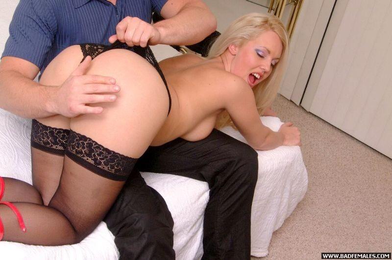 Blonde Ass Spanking
